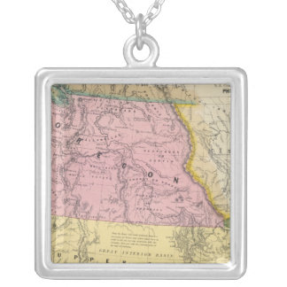 Oregon, Upper California & New Mexico Silver Plated Necklace