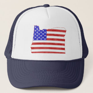 Oregon USA flag silhouette state map Trucker Hat
