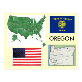 Oregon, USA Postcard