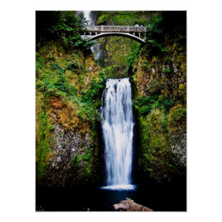 Oregon Waterfall (color) Poster
