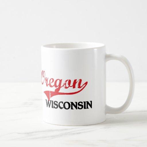 Oregon Wisconsin City Classic Classic White Coffee Mug
