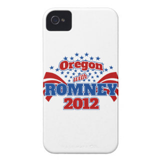 Oregon with Romney 2012 iPhone 4 Case-Mate Cases