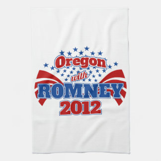 Oregon with Romney 2012 Kitchen Towel