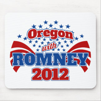 Oregon with Romney 2012 Mouse Pad
