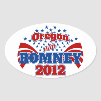 Oregon with Romney 2012 Oval Sticker
