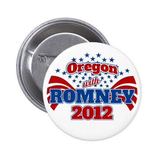 Oregon with Romney 2012 Pinback Button