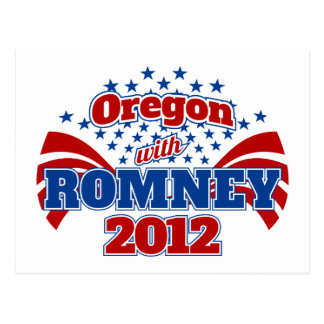 Oregon with Romney 2012 Postcard