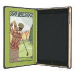 OregonGolf Scene Vintage Travel Poster Case For iPad Air