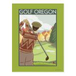 OregonGolf Scene Vintage Travel Poster Postcards