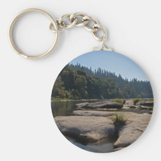 Oregon's Beautiful Umpqua River Basic Round Button Keychain