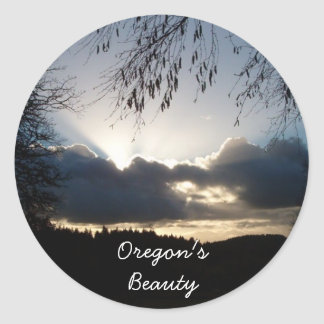 Oregon's Beauty Classic Round Sticker