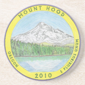 Oregon's Mt. Hood Quarter Colorized Coaster