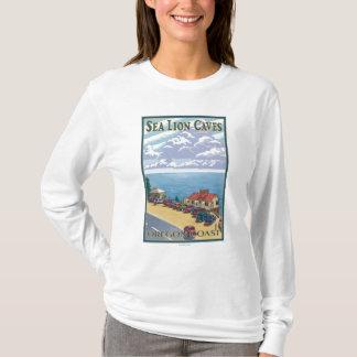OregonSea Lion Caves Vintage Travel Poster T-Shirt