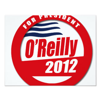 "O'Reilly 2012 button 4.25"" X 5.5"" Invitation Card"