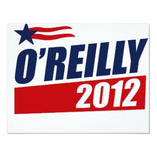 O'REILLY 2012 INVITACIÓN 10,8 X 13,9 CM