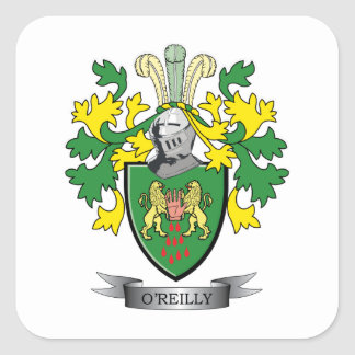 O'Reilly Coat of Arms Square Sticker