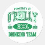 O'Reilly Irish Drinking Team Sticker