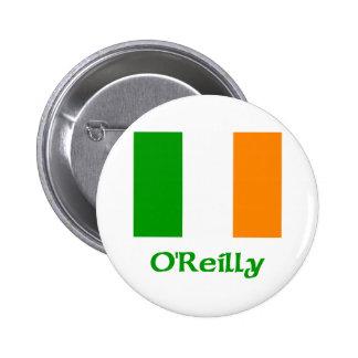 O'Reilly Irish Flag Pinback Button