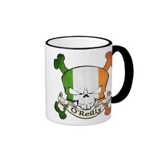 O'Reilly Irish Skull Ringer Coffee Mug