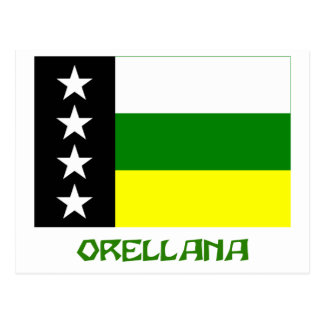 Orellana flag with Name Postcard