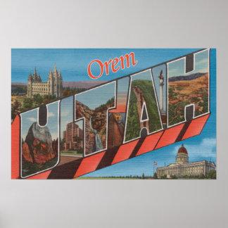 Orem, UtahLarge Letter ScenesOrem, UT Posters