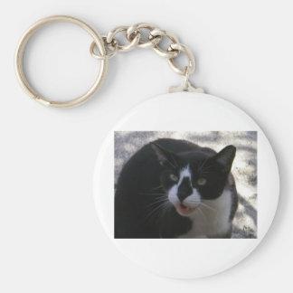 Oreo Cat Basic Round Button Keychain