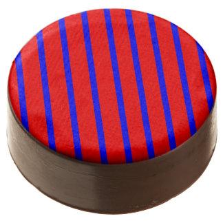 Oreo Cookies stripe Royal Blue-Red