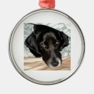 Oreo the English Springer Spaniel Dog Round Metal Christmas Ornament
