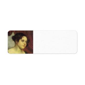 Orest Kiprensky- Portrait of Anna Furman Return Address Label