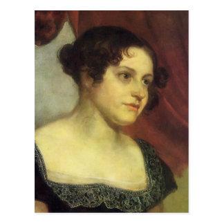 Orest Kiprensky- Portrait of Anna Furman Postcard