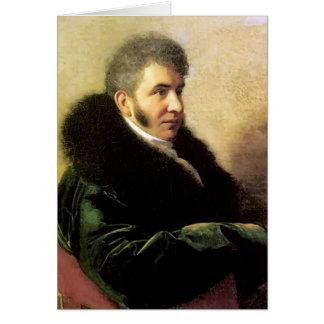 Orest Kiprensky- Portrait of Ivan Gagarin Greeting Card