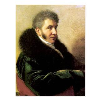 Orest Kiprensky- Portrait of Ivan Gagarin Postcard