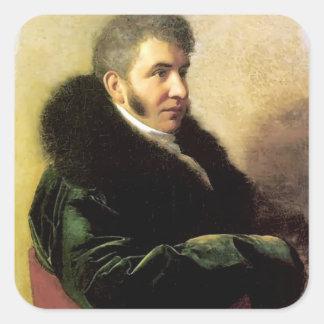 Orest Kiprensky- Portrait of Ivan Gagarin Sticker