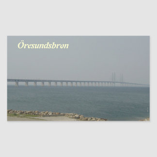 Oresund Bridge Rectangular Stickers