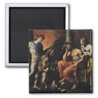 Orfeo antes de Plutón y de Persephone Imán Cuadrado