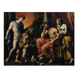 Orfeo antes de Plutón y de Persephone Postal