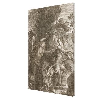 Orfeo, Eurydice principal fuera del infierno, mira Impresiones En Lona