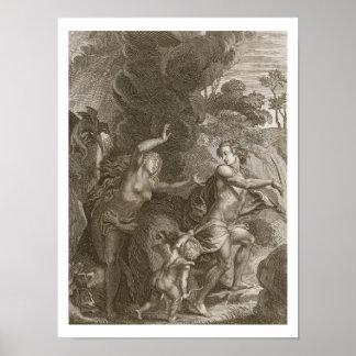 Orfeo, Eurydice principal fuera del infierno, mira Posters