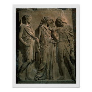 Orfeo, Eurydice y Hermes (mármol) Impresiones
