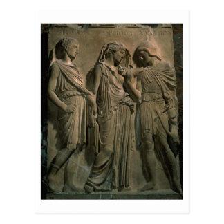 Orfeo, Eurydice y Hermes (mármol) Tarjeta Postal