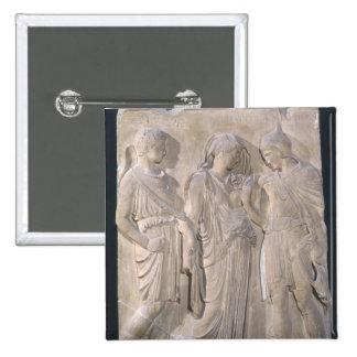 Orfeo, Eurydice y Hermes Pin Cuadrado