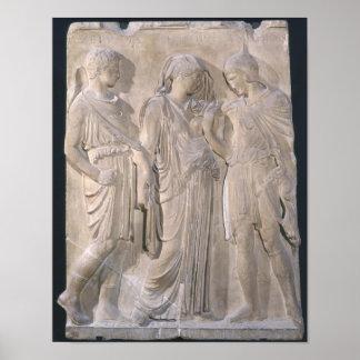 Orfeo, Eurydice y Hermes Póster