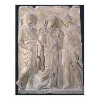 Orfeo, Eurydice y Hermes Tarjeta Postal
