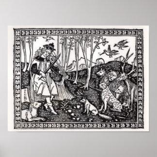 Orfeo que juega a los animales, 1500 póster