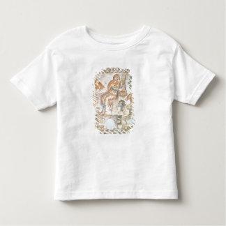 Orfeo que juega a los animales, mosaico romano playeras