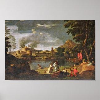 Orfeo y Eurydice de Poussin Nicolás Impresiones