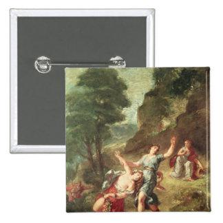 Orfeo y Eurydice, primavera Pin Cuadrado