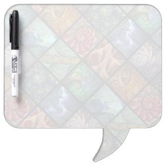 """""""Orgaenica"""" Fractal Polyptych Dry Erase Board"""