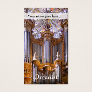 Organ and rose window business card