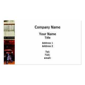 Organ and Swivel Stool Double-Sided Standard Business Cards (Pack Of 100)